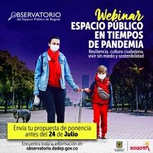 1° Webinar de Espacio Público: Espacio Público en Tiempos de Pandemia